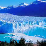 The Perito Moreno Glacier in Argentina.
