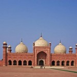The Badshahi Mosque in Pakistan.