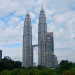 The Petronas Towers in Malaysia.