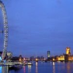 The wheel of London and the London Eye