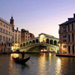 The Rialto Bridge, the best known bridge in Venice