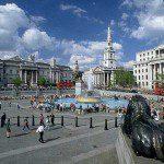 Trafalgar Square, the famous London square